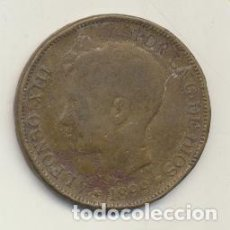 Monete FNMT: ALFONSO XIII. 5 PESETAS. LATÓN. 1899 SGV. FALSA DE ÉPOCA. BARRERA 1366. Lote 125937792
