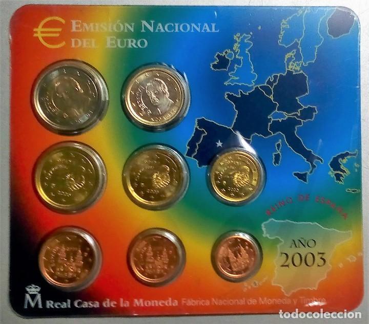 ESPAÑA CARTERA OFICIAL -BLISTER- F.N.M.T. AÑO 2003 *EMISION OFICIAL DEL EURO* (Numismática - España Modernas y Contemporáneas - FNMT)