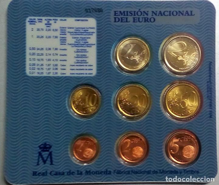 Monedas FNMT: ESPAÑA CARTERA OFICIAL -BLISTER- F.N.M.T. AÑO 2003 *EMISION OFICIAL DEL EURO* - Foto 2 - 244863315