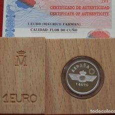 Monedas FNMT: 1 EURO PLATA 1997 - MAURICE FARMAN - CALIDAD FLOR DE CUÑO - FNMT. Lote 129135367