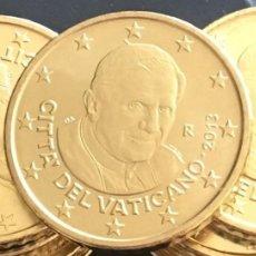 Monedas FNMT: 50 CENTIMOS DE EURO - VATICANO - AÑO 2013 - SIN CIRCULAR - DE CARTUCHO. Lote 224720001