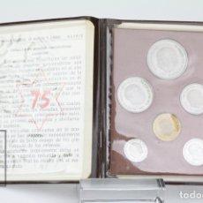 Monedas FNMT: CARTERITA DE FRANCO 1975 - 6 MONEDAS SERIE COMPLETA - CONSERVACIÓN SC. Lote 131233516