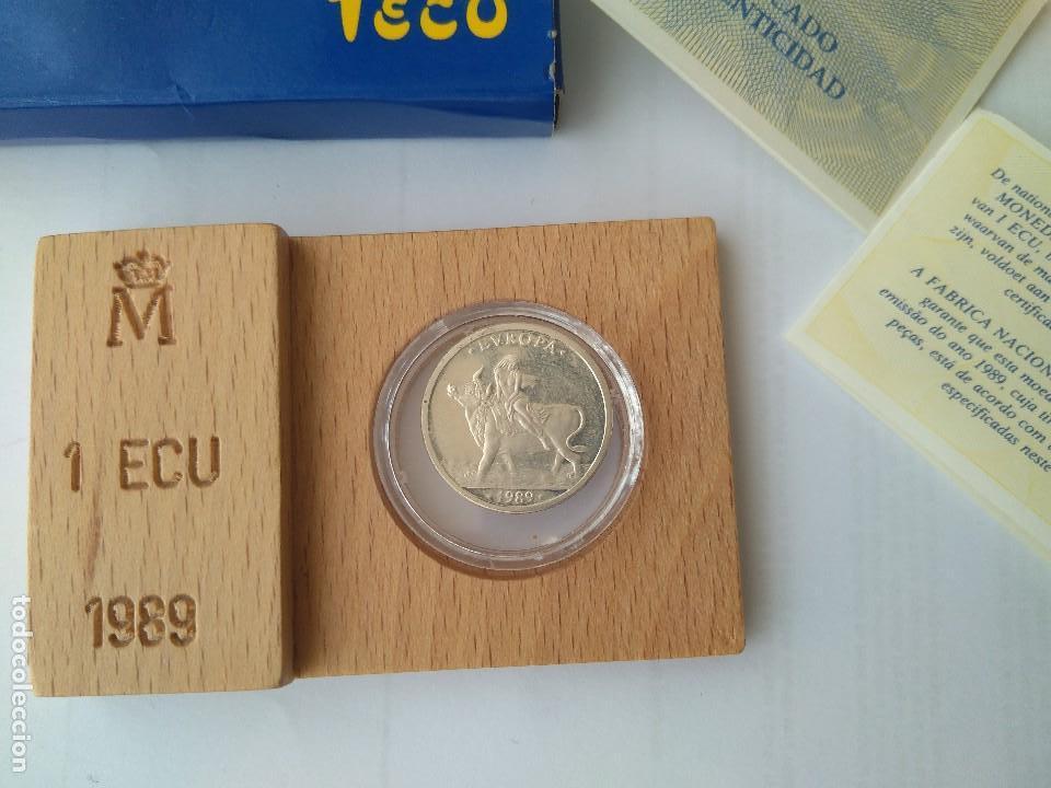 Monedas FNMT: MONEDA DE PLATA-1 ECU 11989 F.N.M.T - Foto 2 - 132815442