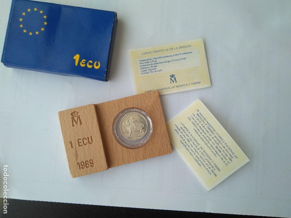 Monedas FNMT: MONEDA DE PLATA-1 ECU 11989 F.N.M.T - Foto 3 - 132815442