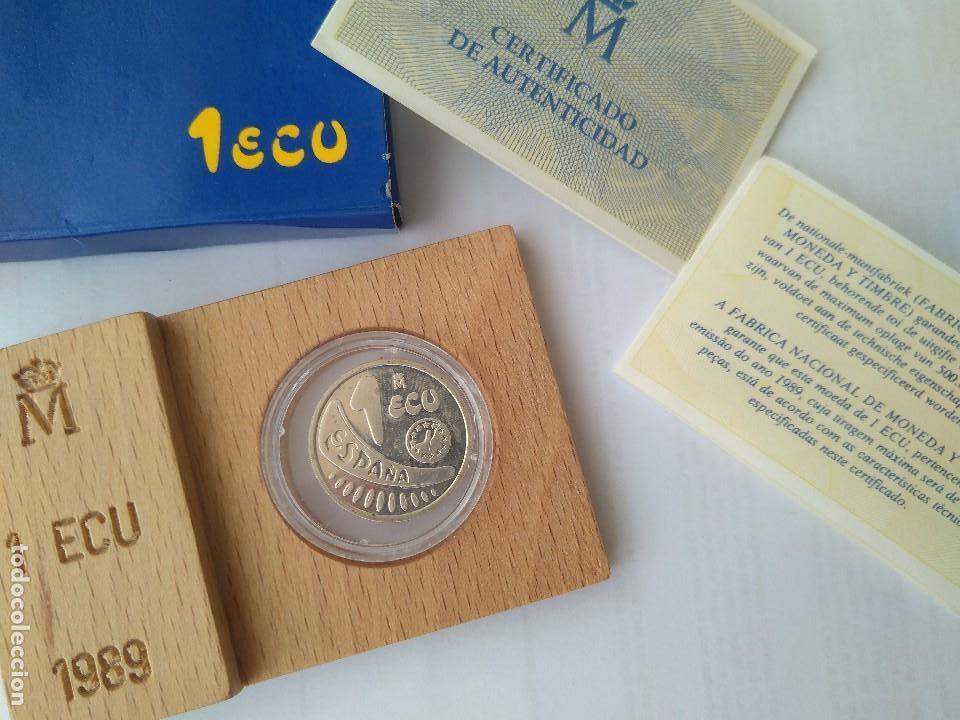 Monedas FNMT: MONEDA DE PLATA-1 ECU 11989 F.N.M.T - Foto 4 - 132815442