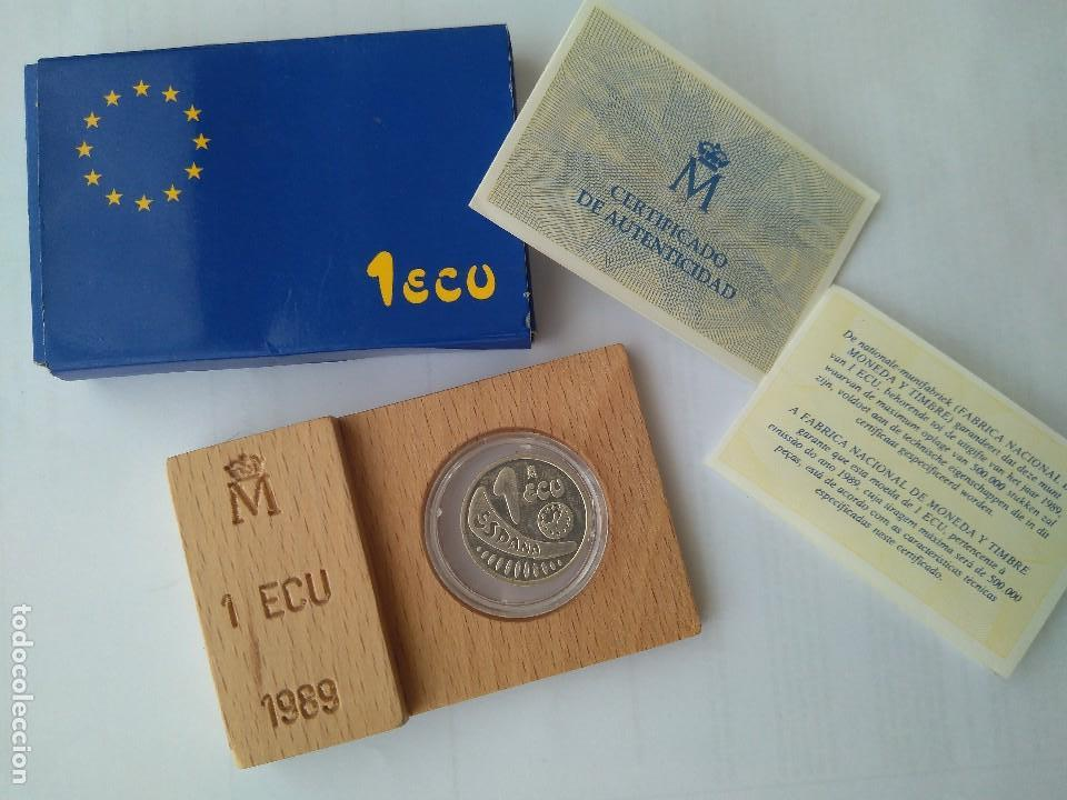MONEDA DE PLATA-1 ECU 11989 F.N.M.T (Numismática - España Modernas y Contemporáneas - FNMT)