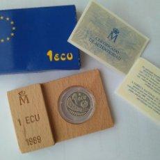 Monedas FNMT: MONEDA DE PLATA-1 ECU 11989 F.N.M.T. Lote 132815442
