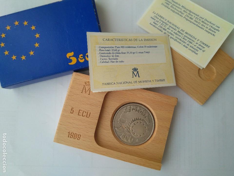 Monedas FNMT: MONEDA DE PLATA 5 ECU F.N.M.T 1989 - Foto 2 - 132816594