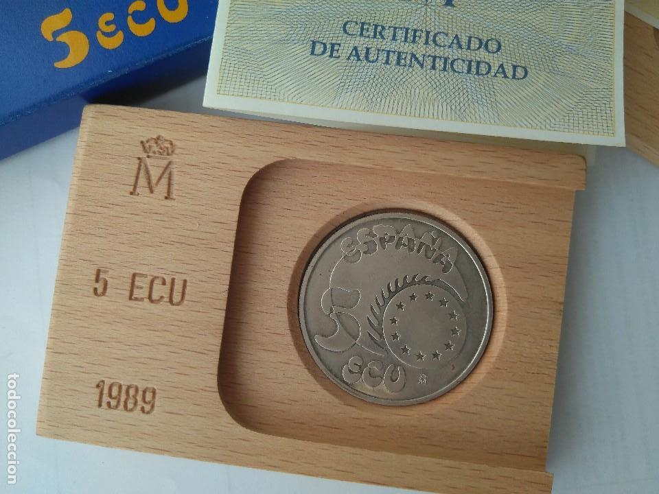 Monedas FNMT: MONEDA DE PLATA 5 ECU F.N.M.T 1989 - Foto 3 - 132816594