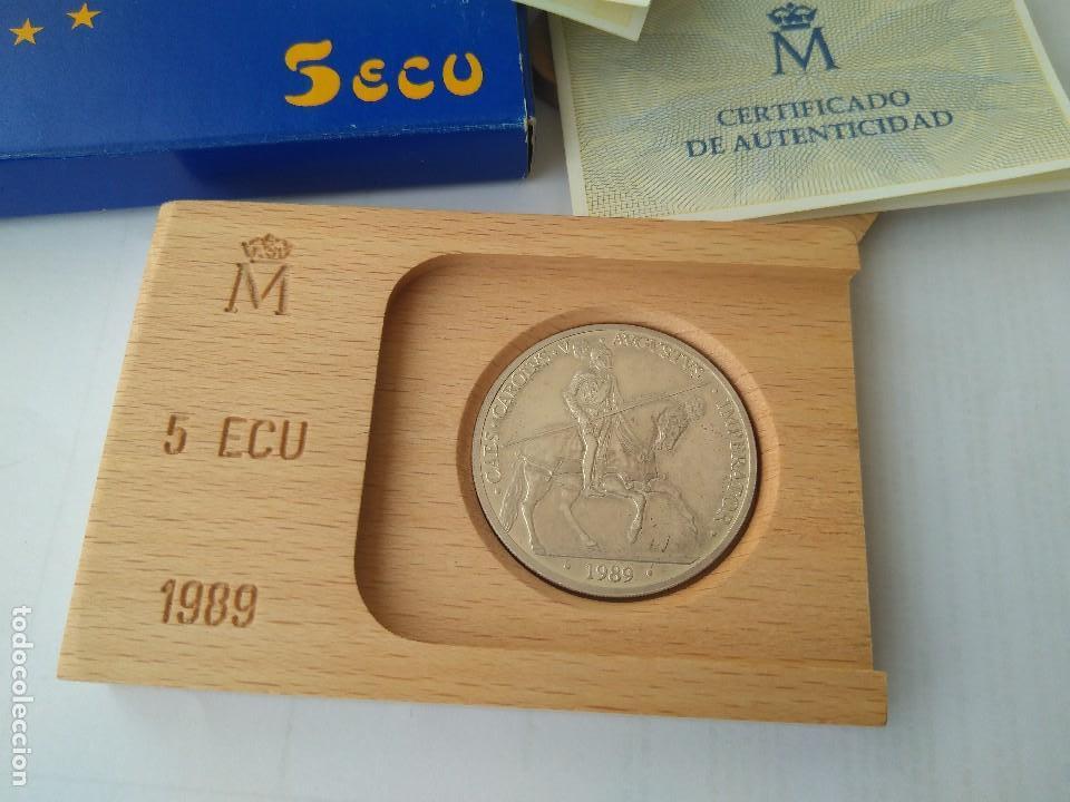 Monedas FNMT: MONEDA DE PLATA 5 ECU F.N.M.T 1989 - Foto 4 - 132816594