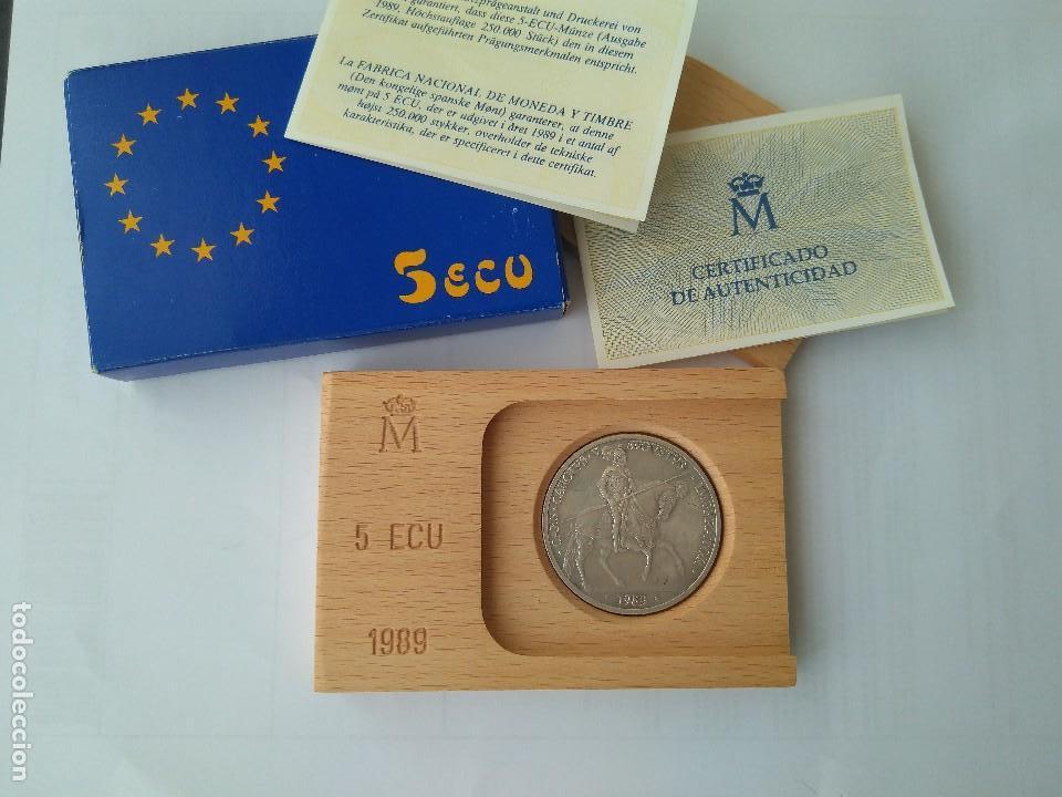 Monedas FNMT: MONEDA DE PLATA 5 ECU F.N.M.T 1989 - Foto 7 - 132816594