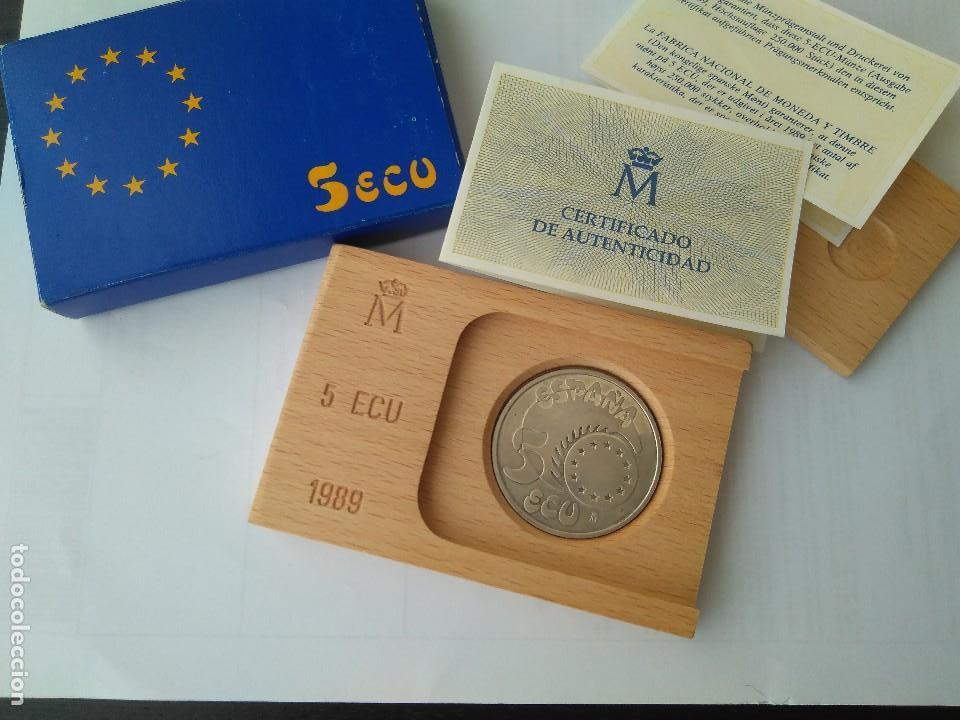 MONEDA DE PLATA 5 ECU F.N.M.T 1989 (Numismática - España Modernas y Contemporáneas - FNMT)