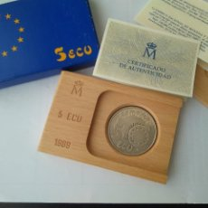 Monedas FNMT: MONEDA DE PLATA 5 ECU F.N.M.T 1989. Lote 132816594