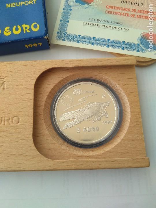 Monedas FNMT: MONEDA DE PLATA 5 EURO-NIEUPORT 1997 F.N.M.T - Foto 2 - 132817626