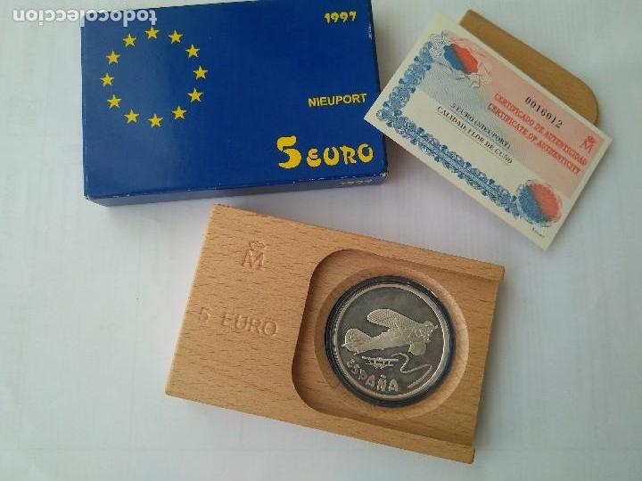Monedas FNMT: MONEDA DE PLATA 5 EURO-NIEUPORT 1997 F.N.M.T - Foto 4 - 132817626