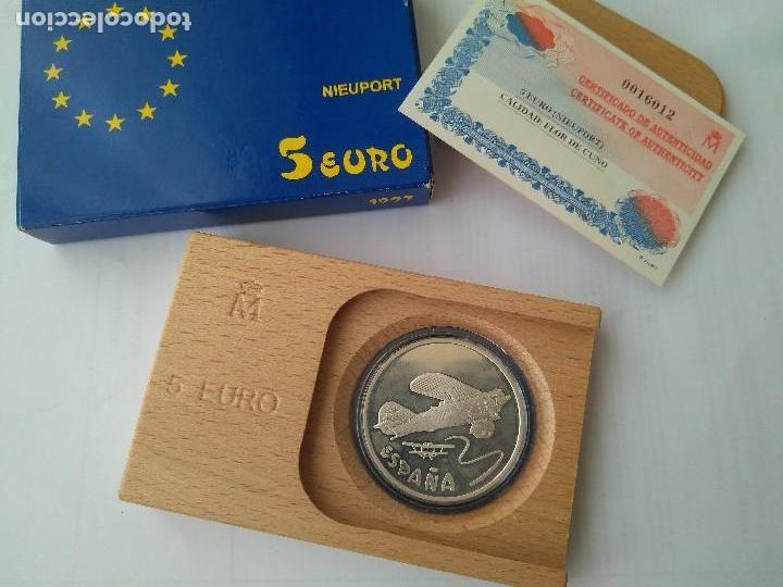 Monedas FNMT: MONEDA DE PLATA 5 EURO-NIEUPORT 1997 F.N.M.T - Foto 5 - 132817626