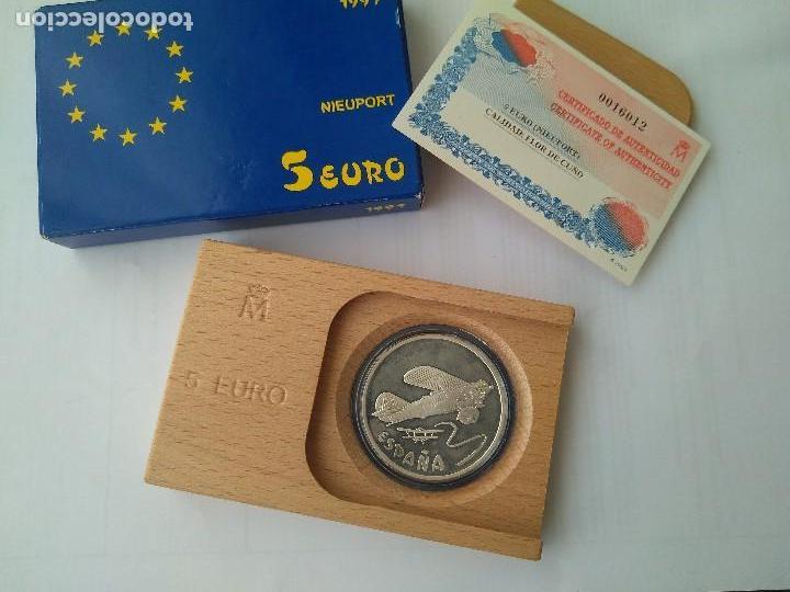 Monedas FNMT: MONEDA DE PLATA 5 EURO-NIEUPORT 1997 F.N.M.T - Foto 6 - 132817626