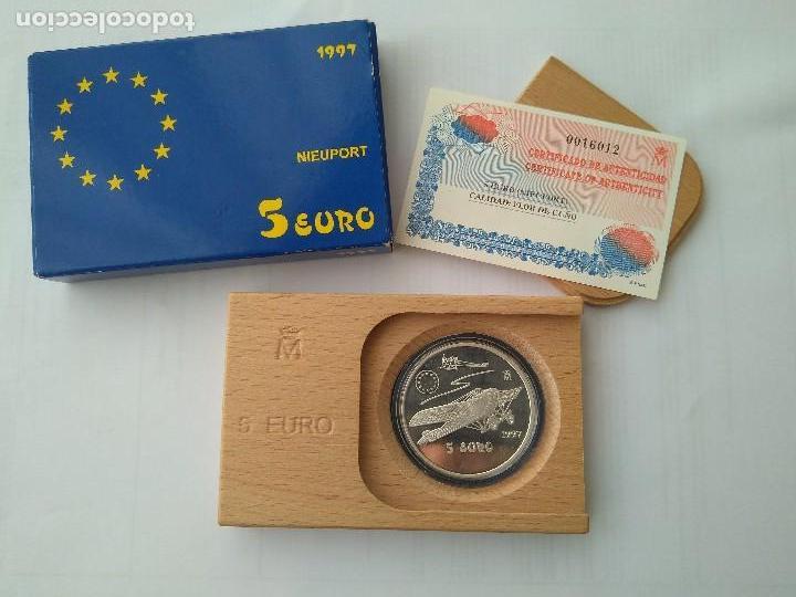 Monedas FNMT: MONEDA DE PLATA 5 EURO-NIEUPORT 1997 F.N.M.T - Foto 7 - 132817626