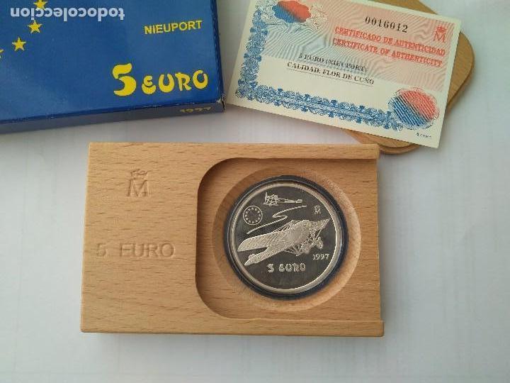 MONEDA DE PLATA 5 EURO-NIEUPORT 1997 F.N.M.T (Numismática - España Modernas y Contemporáneas - FNMT)