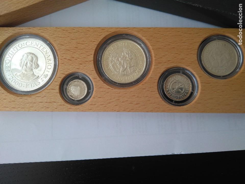 Monedas FNMT: MONEDAS DE PLATA 5 VALORES-2000-1000-500-200-100 PESETAS, SERIE I 1989 - Foto 2 - 132825622