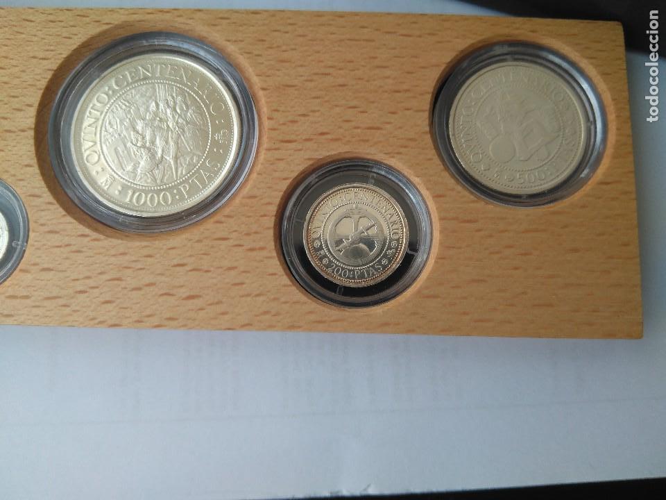 Monedas FNMT: MONEDAS DE PLATA 5 VALORES-2000-1000-500-200-100 PESETAS, SERIE I 1989 - Foto 3 - 132825622