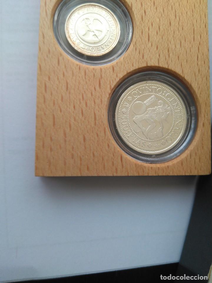Monedas FNMT: MONEDAS DE PLATA 5 VALORES-2000-1000-500-200-100 PESETAS, SERIE I 1989 - Foto 4 - 132825622