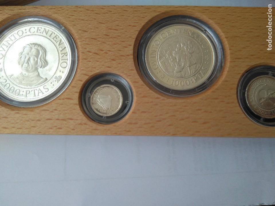 Monedas FNMT: MONEDAS DE PLATA 5 VALORES-2000-1000-500-200-100 PESETAS, SERIE I 1989 - Foto 5 - 132825622