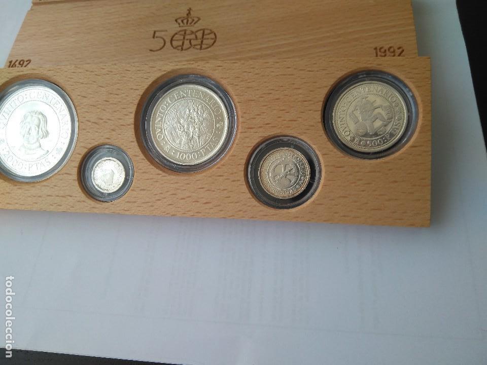 Monedas FNMT: MONEDAS DE PLATA 5 VALORES-2000-1000-500-200-100 PESETAS, SERIE I 1989 - Foto 7 - 132825622