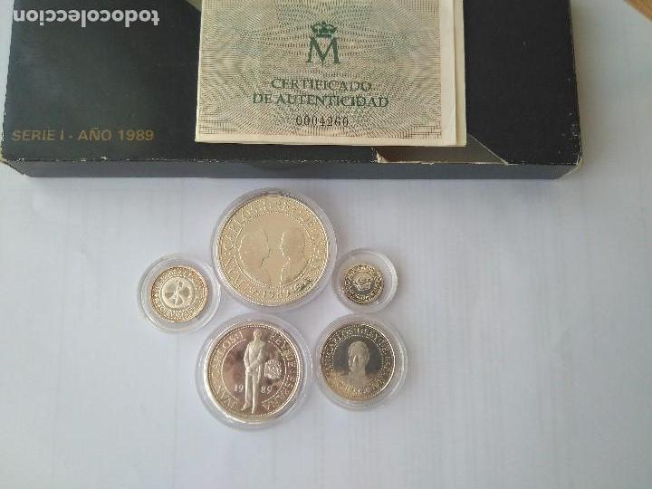 Monedas FNMT: MONEDAS DE PLATA 5 VALORES-2000-1000-500-200-100 PESETAS, SERIE I 1989 - Foto 8 - 132825622