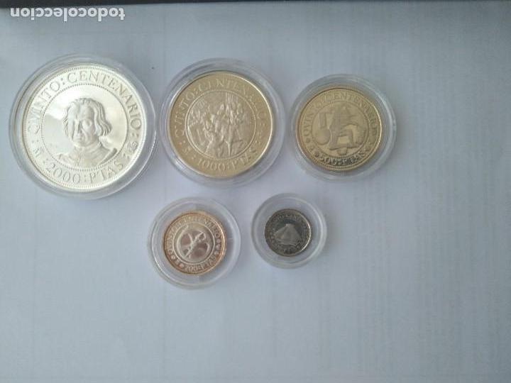 Monedas FNMT: MONEDAS DE PLATA 5 VALORES-2000-1000-500-200-100 PESETAS, SERIE I 1989 - Foto 10 - 132825622
