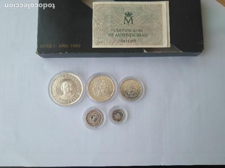 Monedas FNMT: MONEDAS DE PLATA 5 VALORES-2000-1000-500-200-100 PESETAS, SERIE I 1989 - Foto 11 - 132825622