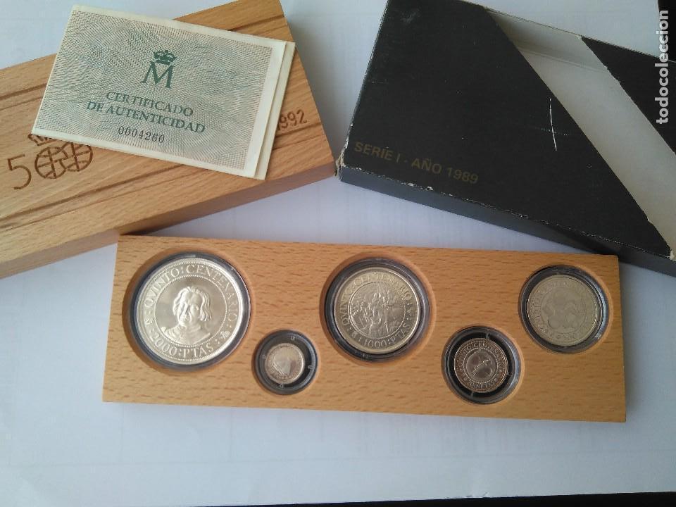 MONEDAS DE PLATA 5 VALORES-2000-1000-500-200-100 PESETAS, SERIE I 1989 (Numismática - España Modernas y Contemporáneas - FNMT)