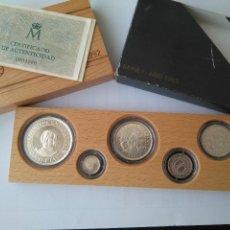 Monedas FNMT: MONEDAS DE PLATA 5 VALORES-2000-1000-500-200-100 PESETAS, SERIE I 1989. Lote 132825622