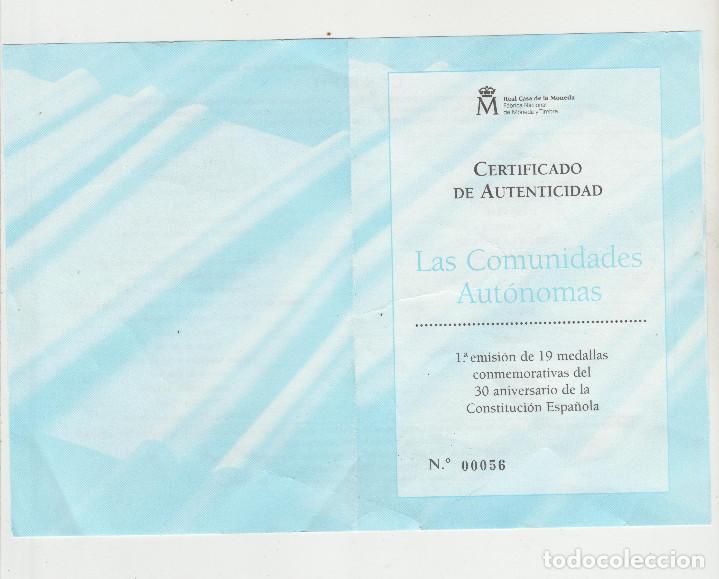 Monedas FNMT: LAS COMUNIDADES AUTONOMAS DE ESPAÑA-FABRICA NACIONAL DE MONEDA Y TIMBRE - Foto 10 - 137128866