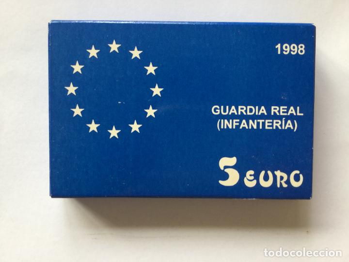 Monedas FNMT: 5 EURO GUARDIA REAL INFANTERIA 1998 - Foto 1 - 138942306
