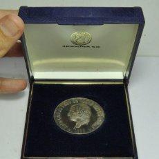 Monedas FNMT: MEDALLA DE JUAN CARLOS I 50 AÑOS REY DE ESPAÑA. PLATA PURA. CON ESTUCHE Y CERTIFICADO AUTENTICIDAD.. Lote 139106514