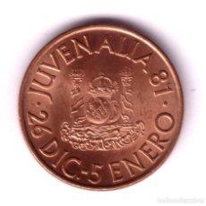 Monedas FNMT - ESPAÑA 1981 medalla bronce JUVENALIA 81 - Fabrica Nacional de Moneda y Timbre - 140007830
