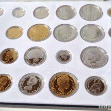Monedas FNMT: HISTORIA DE LA PESETA - EMISION ESPECIAL CONMEMORATIVA FNMT 24 PIEZAS PROOF PLATA Y ORO. Lote 140181110