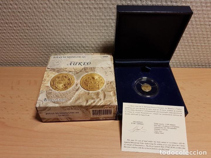 ESPAÑA 20 EUROS ORO JOYAS NUMISMATICAS 2008 (Numismática - España Modernas y Contemporáneas - FNMT)