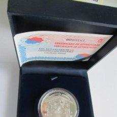 Monedas FNMT: JUAN CARLOS I * 10 EURO 2003 * XXV ANIVERSARIO DE LA CONSTITUCION ESPAÑOLA * PLATA ** TIN. Lote 141571186