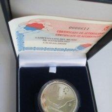 Monedas FNMT: JUAN CARLOS I * 10 EURO 2003 * CAMPEONATOS DEL MUNDO DE NATACION 2003 * PLATA **TIN. Lote 141573610