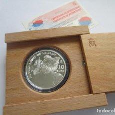 Monedas FNMT: JUAN CARLOS I * 10 EURO 2003 * 500 ANIVERSARIO MIGUEL LOPEZ DE LEGAZPI * PLATA ** TIN. Lote 141574294