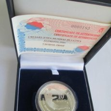 Monedas FNMT: JUAN CARLOS I * 10 EURO 2003 * COPA MUNDIAL DE LA FIFA ALEMANIA 2006 * PLATA ** TIN. Lote 141576402
