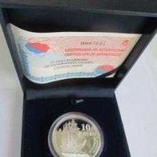 Monedas FNMT: JUAN CARLOS I *10 EURO 2003 * 75 ANV. DEL BUQUE ESCUELA JUAN SEBASTIAN DE ELCANO * PLATA ** TIN. Lote 141576922