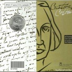 Monedas FNMT: CARTERITA DE LA FNMT CON LA MONEDA DE 12 € DE PLATA , CONMEMORATIVA CRISTOBAL COLÓN. Lote 142829278