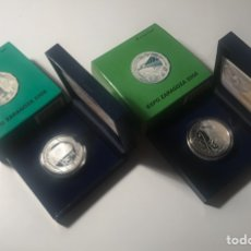 Monedas FNMT: JUEGO DOS MONEDAS 10€ FNMT - EXPO ZARAGOZA 2008. Lote 145117368
