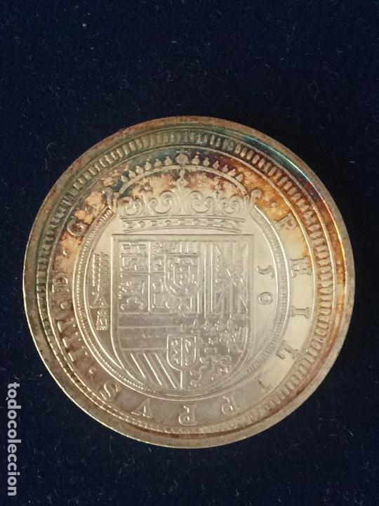 Monedas FNMT: REPRODUCCION FNMT CINCUENTÍN DE SEGOVIA 1618. - Foto 2 - 147684474