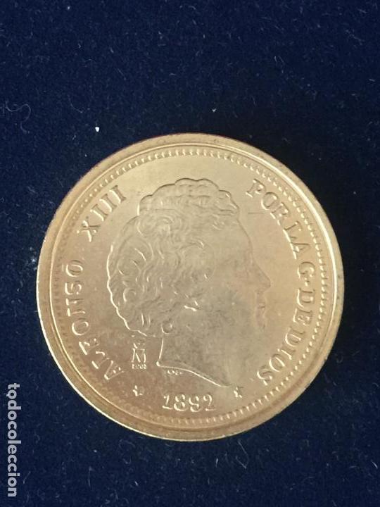 REPRODUCCION FNMT 20 PESETAS 1892. (Numismática - España Modernas y Contemporáneas - FNMT)