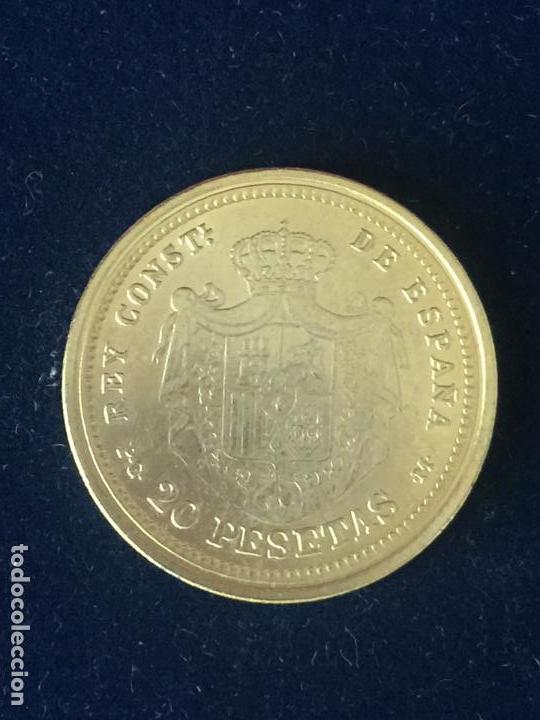 Monedas FNMT: REPRODUCCION FNMT 20 PESETAS 1892. - Foto 2 - 147685114