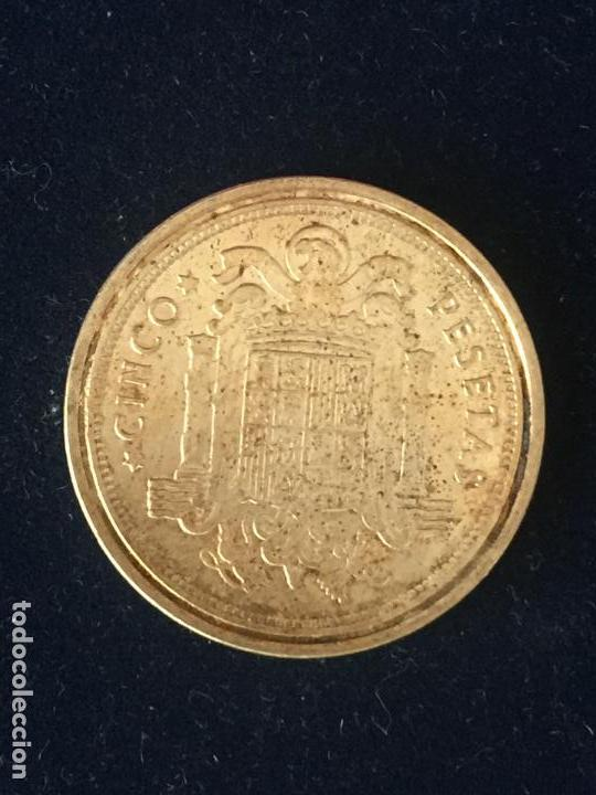 Monedas FNMT: REPRODUCCION FNMT 5 PESETAS 1949. - Foto 2 - 147685406